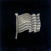 American Flag Sterling Silver!