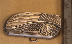 Height Of The Worlds Fastest Belt Buckle Knife! Click To View Large Image!