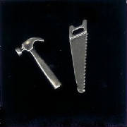 Sterling Silver Saw & Hammer!