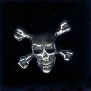 Sterling Silver Skull & Crossbones - Click Below To View Our Add Sterling Silver Pages!
