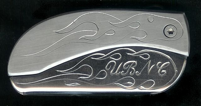 Engraved Flame With Engraved Initials UBNC